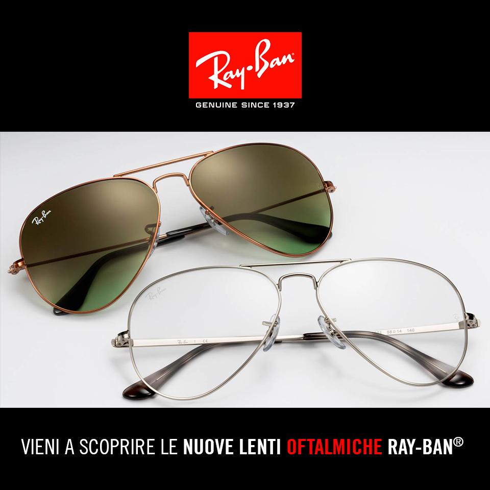Esperienza ray ban al 100 for Occhiali da vista da sole