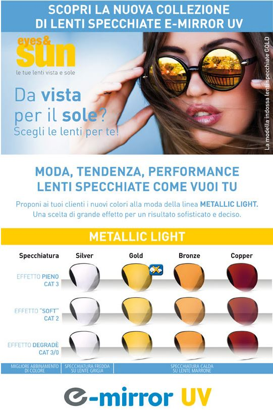 nuovo di zecca c789e ced7d Eye & Sun: nuove lenti specchiate Essilor